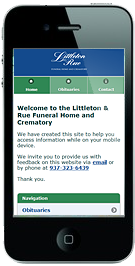 Littleton & Rue mobile site
