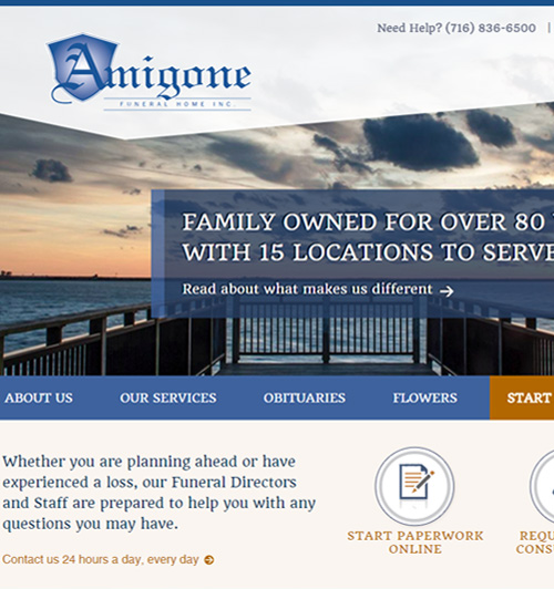 Gilligan Funeral Homes · Amigone