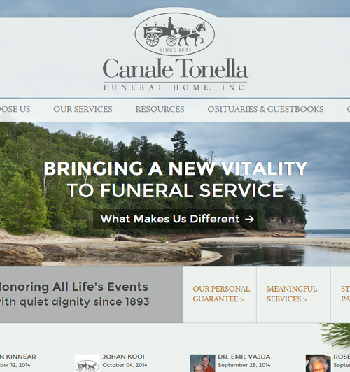 FuneralNet: Custom Funeral Home Website Design - Funeral Home ...