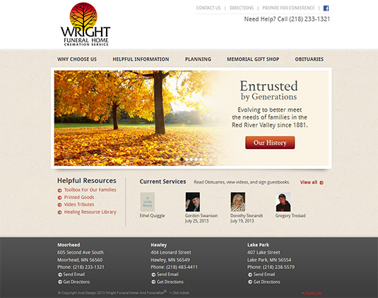 FuneralNet Custom Funeral Home Website Design Funeral Home